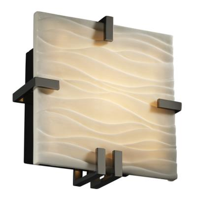Justice Design PNA-5550 Clips Square Wall Sconce (ADA)
