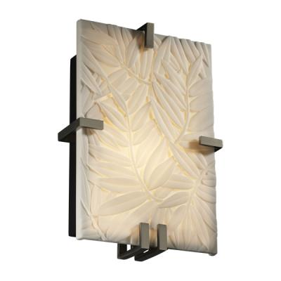 Justice Design PNA-5551 Clips Rectangle Wall Sconce (ADA)