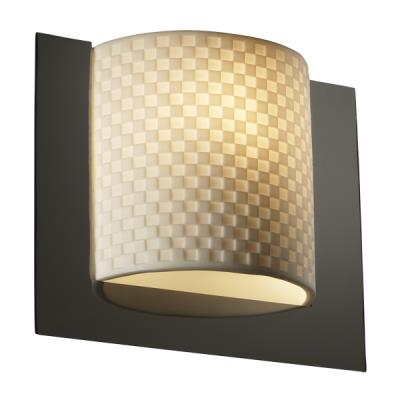 Justice Design PNA-5560 Framed Square 3-Sided Wall Sconce (ADA)