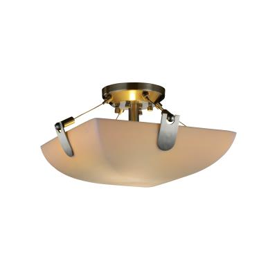 Justice Design PNA-9610 Porcelina - Two Light Semi-Flush Mount with U-Clip