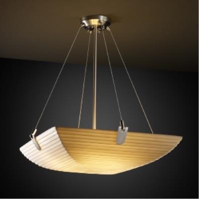 Justice Design PNA-9621 Porcelina - Three Light Bowl Pendant with U-Clip