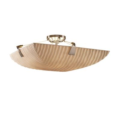 Justice Design PNA-9632 Porcelina - Six Light Semi-Flush Mount with Tapered Clip