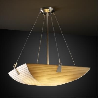 Justice Design PNA-9642 Porcelina - Six Light Bowl Pendant with Tapered Clip