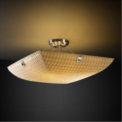 Justice Design PNA-9651 Porcelina - Three Light Semi-Flush Mount