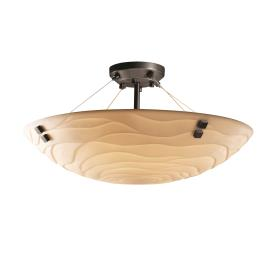 Justice Design PNA-9652 Porcelina - Six Light Semi-Flush Mount