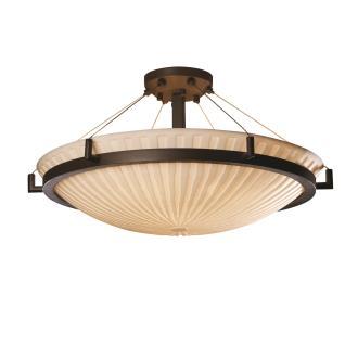 Justice Design PNA-9687 Porcelina - Eight Light Round Semi-Flush Mount with Ring