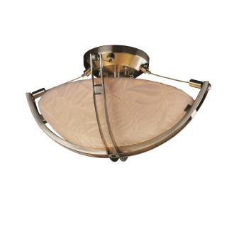 Justice Design PNA-9710 Porcelina - Two Light Semi-Flush Mount with Crossbar