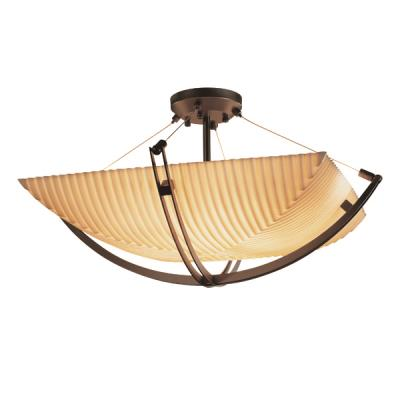 Justice Design PNA-9714 Porcelina - Eight Light Semi-Flush Mount with Crossbar