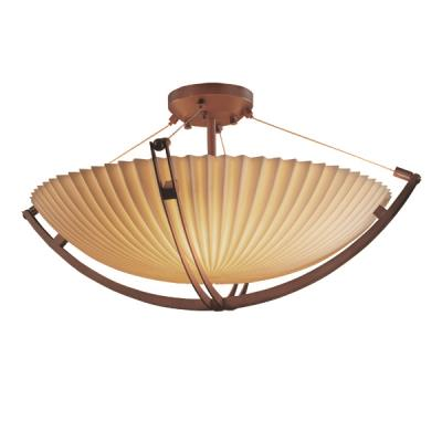 Justice Design PNA-9719 Porcelina - Twelve Light Semi-Flush Mount with Crossbar