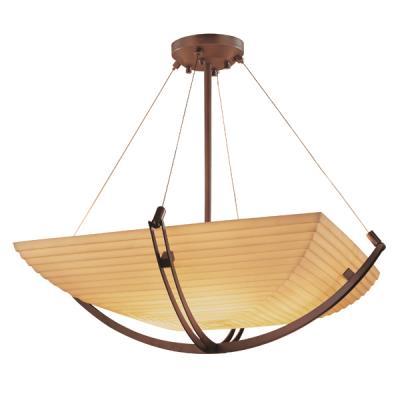 Justice Design PNA-9727 Porcelina - Eight Light Bowl Pendant with Crossbar