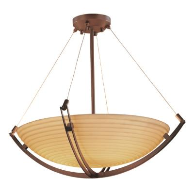 Justice Design PNA-9729 Porcelina - Twelve Light Bowl Pendant with Crossbar