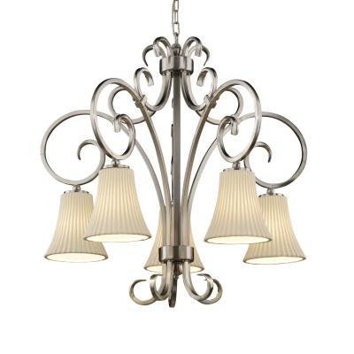 Justice Design POR-8575 Victoria 5-Downlight Chandelier