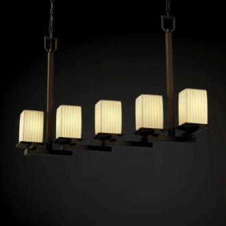 Justice Design POR-8687 Limoges - Five Light Zig-Zag Chandelier