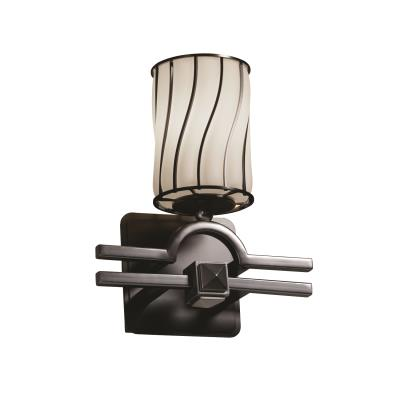 Justice Design WGL-8501 Argyle 1-Light Wall Sconce