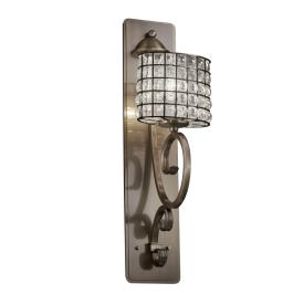 Justice Design WGL-8579 Victoria 1-Light Wall Sconce Tall