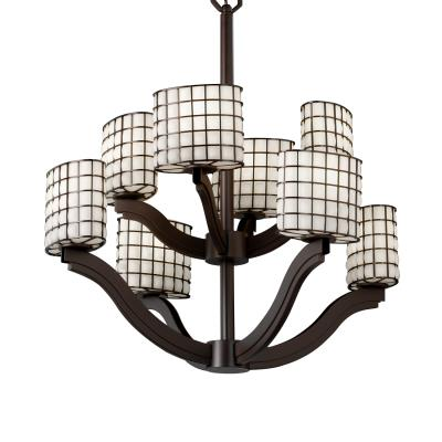 Justice Design WGL-8978 Bend Eight Light 2-Tier Chandelier