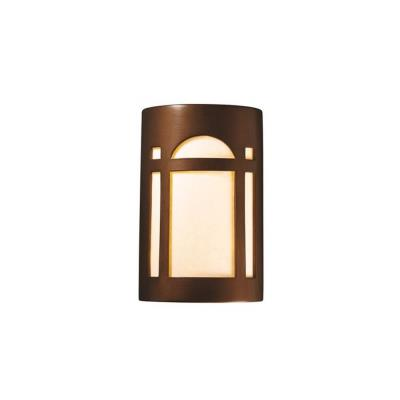Justice Design 7385W Small Arch Window Open Top and Bottom Outdoor Sconce