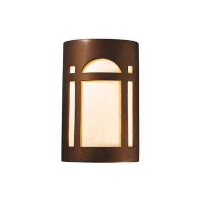 Justice Design 7395 Large Arch Window Open Top and Bottom Sconce