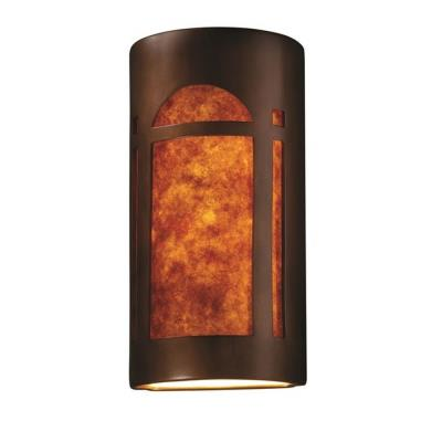 Justice Design 7397 Really Big Arch Window Open Top and Bottom Sconce