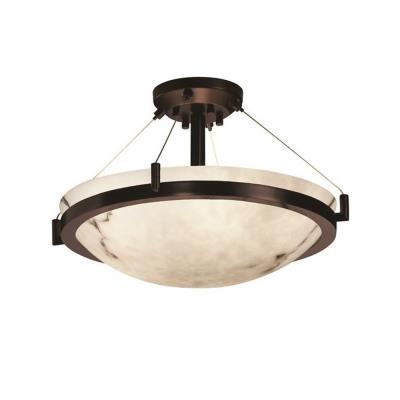 """Justice Design FAL-9681 18"""" Round Semi-Flush Bowl"""