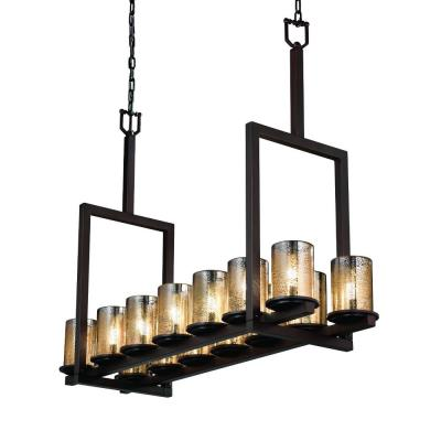 Justice Design FSN-8764 Dakota 12-Light Ring Chandelier (Short)