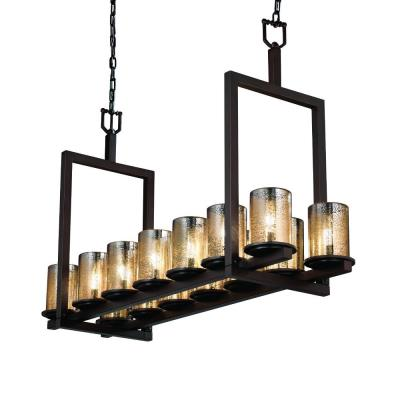 Justice Design FSN-8769 Dakota 14-Light Bridge Chandelier (Short)