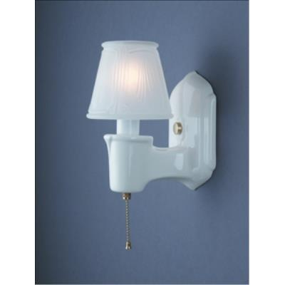 Justice Design 7150 Chateau Single-arm W/ Clip-on Glass Shade Wall Bracket