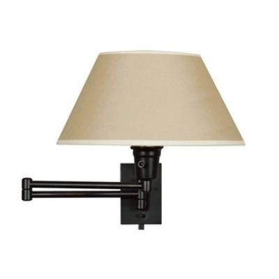 Kenroy Lighting 30110BLKP Simplicity Swing Arm Wall Lamp