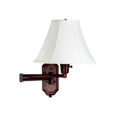 Kenroy Lighting 30130BRZ Nathaniel Swing Arm Wall Lamp