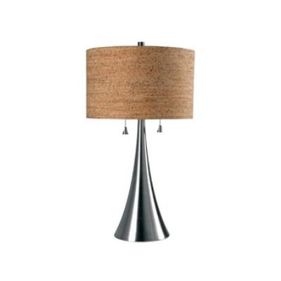 Kenroy Lighting 32092BS Bulletin - Two Light Table Lamp