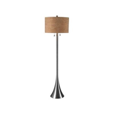 Kenroy Lighting 32093BS Bulletin - Two Light Floor Lamp