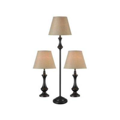 Kenroy Lighting 32199ORB Genie - One Light Combo lamp(2 Table Lamp and 1 Floor Lamp)