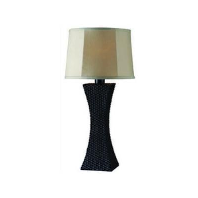 Kenroy Lighting 32204BRZ Weaver - One Light Outdoor Table Lamp