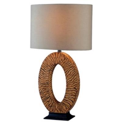 Kenroy Lighting 32231SBT Burl - One Light Table Lamp