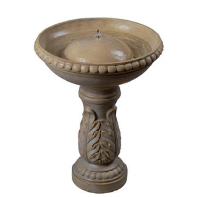 "Kenroy Lighting 50020SS Acanthus - 21"" Outdoor Bird Bath Fountain"