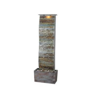 Kenroy Lighting 50251SL Curvature Slate Floor Fountain