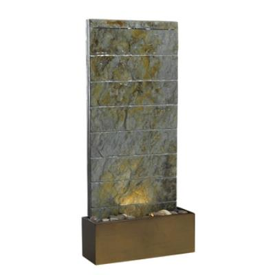 Kenroy Lighting 50621SL Brook Indoor/Outdoor Floor/Wall Fountain