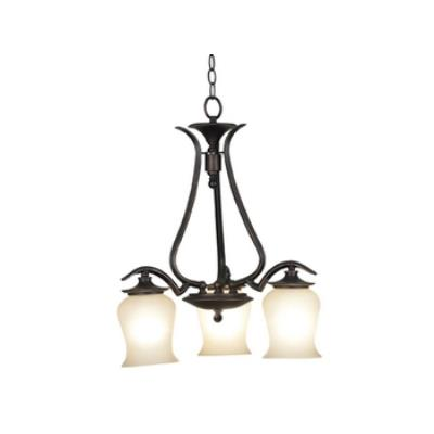 Kenroy Lighting 80583ORB Bienville 3 Light Down Chandelier