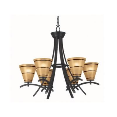Kenroy Lighting 90086ORB Wright 6 Light Chandelier