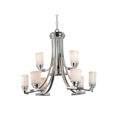 Kenroy Lighting 90379PN Bow 9 Light Chandelier