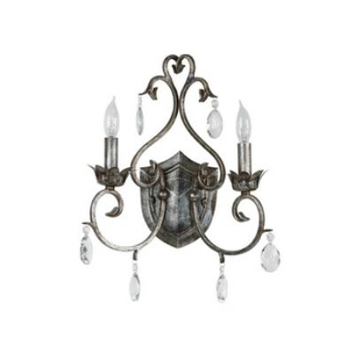 Kenroy Lighting 91342WS Antoinette 2 Light Sconce