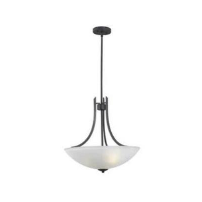 Kenroy Lighting 91923FGRPH Mirage - Three Light Pendant