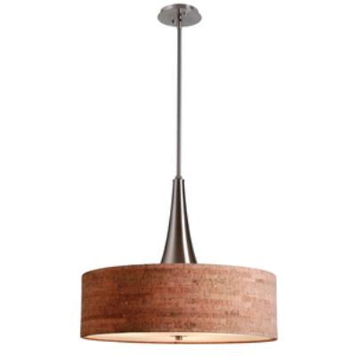 Kenroy Lighting 93013BS Bulletin - Three Light Pendant