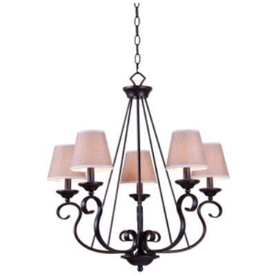 Kenroy Lighting 93115ORB Basket - Five Light Chandelier