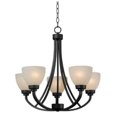 Kenroy Lighting 93195BBZ Dynasty - Five Light Chandelier