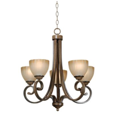 Kenroy Lighting 93215AT Terrain - Five Light Chandelier