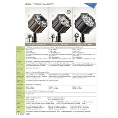 Kichler Lighting 15731 LED Landscape - Low Voltage One Light LED Spot Lamp