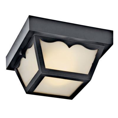 Kichler Lighting 11027BK Two Light Outdoor Flush Mount