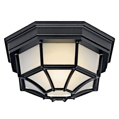 Kichler Lighting 11028BK One Light Outdoor Flush Mount