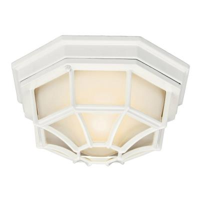 Kichler Lighting 11028WH One Light Outdoor Flush Mount